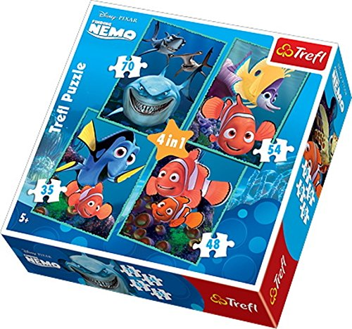 Disney 4-in-1 Rock (Trefl 4-in-1 Disney Nemo Puzzle (207 Pieces))