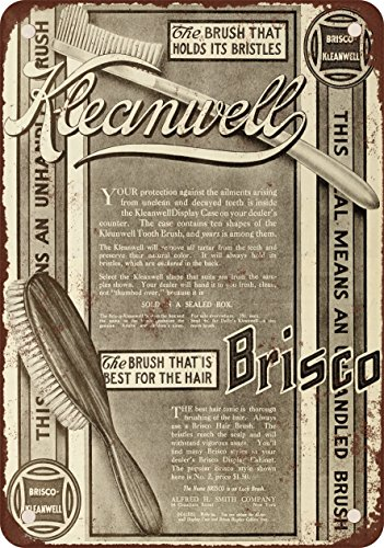 9-x-12-metal-sign-1910-brisco-kleanwell-brushes-vintage-look-reproduction