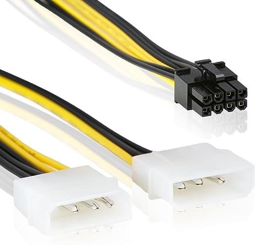 DELOCK Stromkabel 6Pin PCIe 2 x 8Pin PCIe Bu//St 0.15m