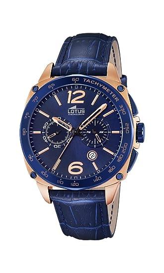 Lotus 18217/1 - Reloj de Pulsera Hombre, Cuero, Color Azul: Lotus: Amazon.es: Relojes