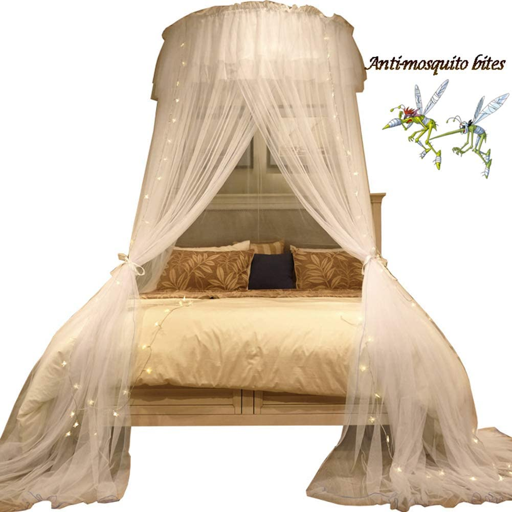 Mosquito Net,Princess Play Tents,Universal Room Decoration for baby Kids Playing Reading,night light 3 open the door,Blue XIAO/&Z Children adult Bed Canopy Round Dome,Indoor Outdoor decorations