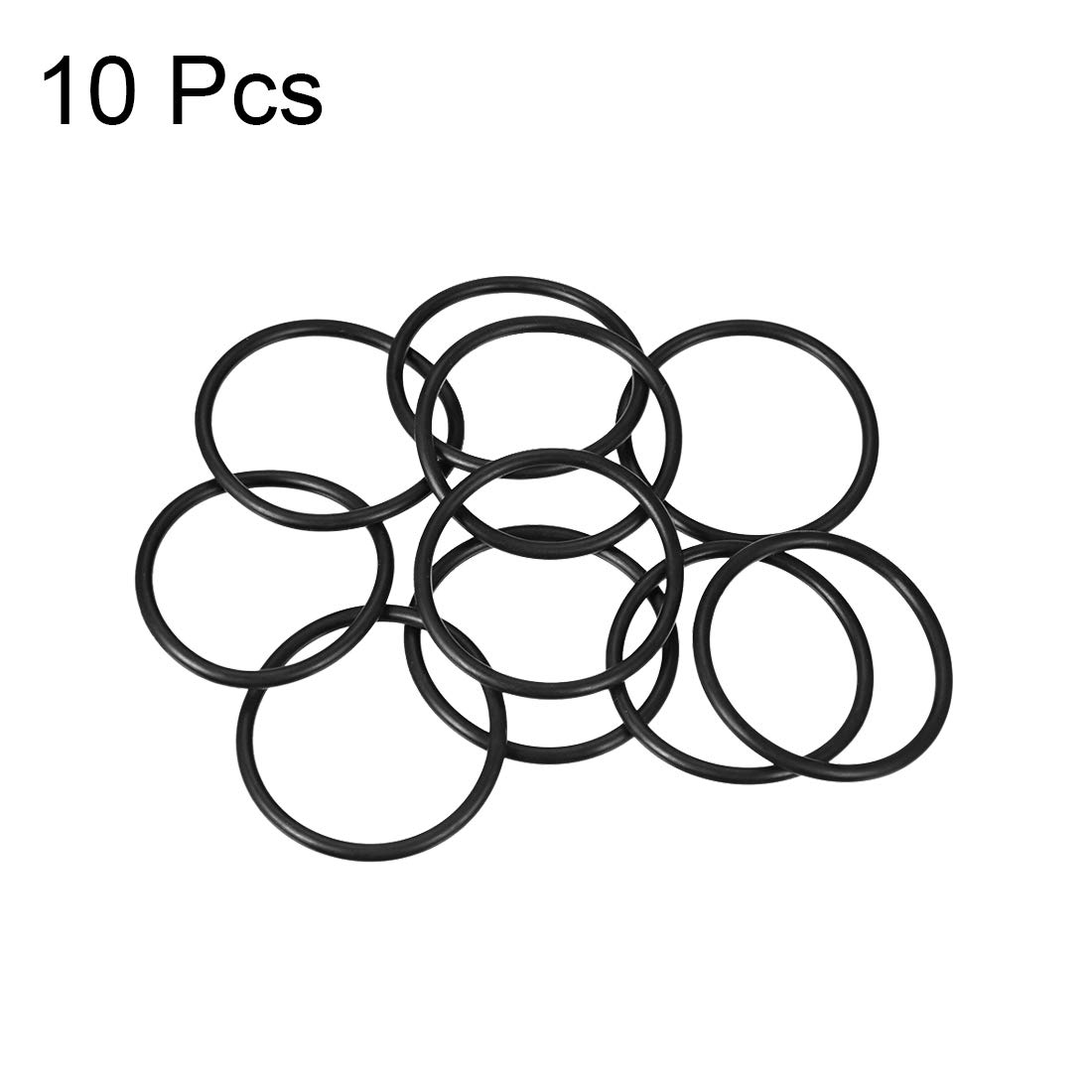 12mm Inner Diameter 17mm OD uxcell O-Rings Nitrile Rubber Round Seal Gasket Pack of 20 2.5mm Width