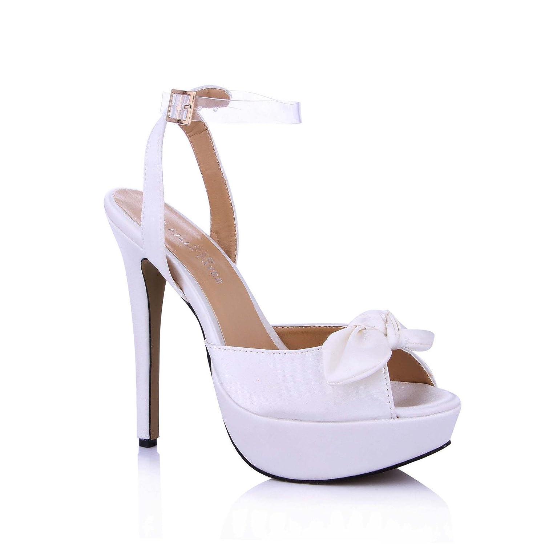 Sandales femme produits nouveaux de produits d laiteux été femme mariage bureau imperméable fleurs damassées blanc laiteux du haut-chaussures de talon Opal 2f29bb7 - shopssong.space