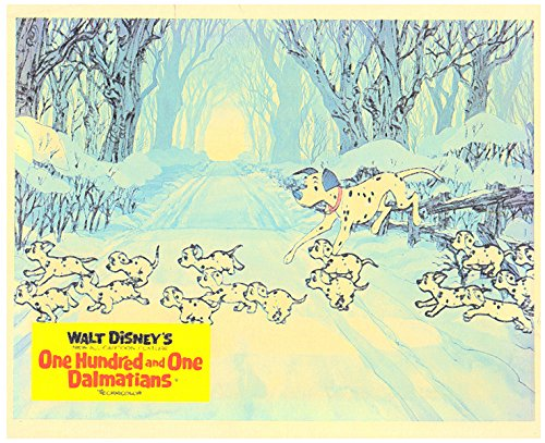 (One Hundred and One Dalmations Original Lobby Card Dalmations Cross Snow)