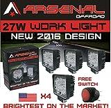 27w Square LED Work Light Lamp Off Road High Power ATV Je...