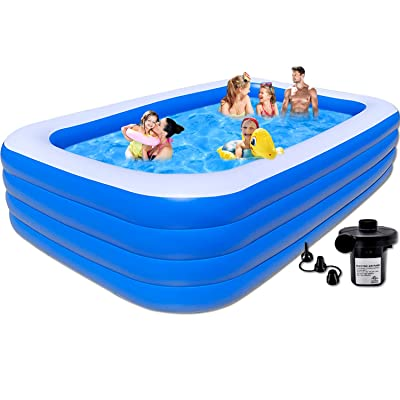 Family Swimming Pool 183cm inflatable pool above ground kid adult children blue