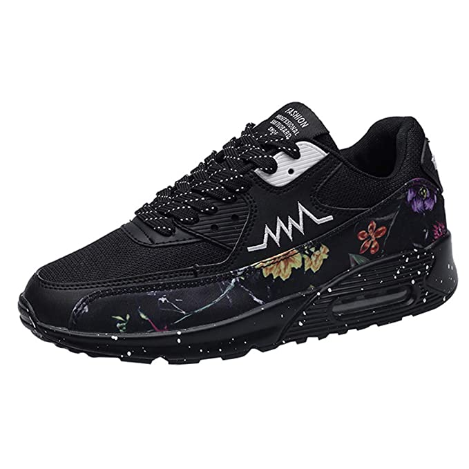 6025962f30eaf Amazon.com: Geetobby New Men's Running Shoes Outdoor Printed Shoes ...