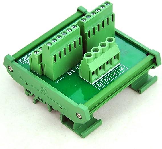 Electrónica-salón montaje en carril DIN 12 posición módulo de ...