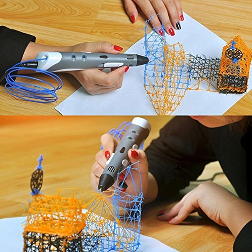 Ouguan Sending Gift Intelligent 3D Printing Pen, 3D Drawing Model Making Doodle Arts & Crafts Drawing, Stimulate childrens' creativity, improve spatial thinking ability. by Ouguan (Image #6)