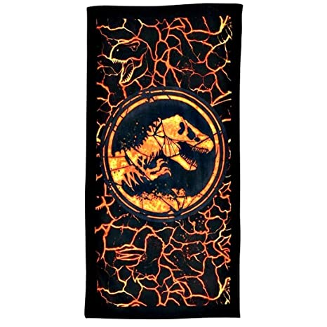 Factorycr Jurassic World - Toalla playa 100% algodón-3 70x140 cm