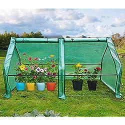 "Quictent Updated Super Large Zipper Doors Mini Greenhouse Portable Cloche Green House 71"" WX 36"" D X 36"" H"
