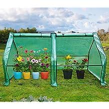 "Quictent Updated Super Large Zipper Doors Mini Greenhouse Portable Cloche Green House 71"" WX 36""D X 36"" H"