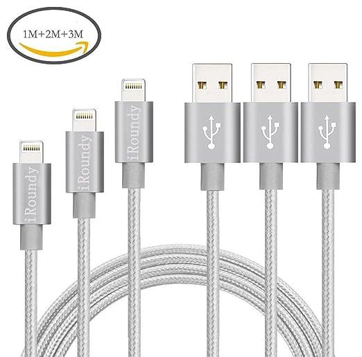 21 opinioni per iRoundy (3 Pack 1 m, 2 m, 3 m) Nylon Cavo Lightning USB Cavi Intrecciato