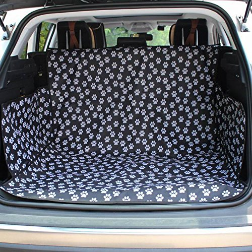 HCMAX Dog Vehicle Cargo Liner Cover Pet Seat Cover Bed Floor Mat Nonslip Waterproof Universal for Car SUV Truck Jeeps Vans Paw Prints by HCMAX (Image #1)