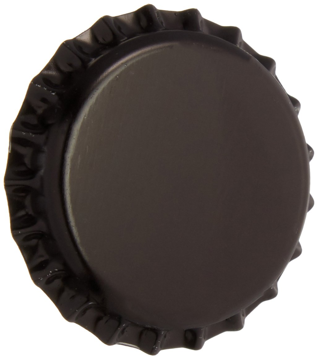 Beer Bottle Crown Caps-Oxygen Absorbing for Homebrew-144 Count(Black) by Lonely Mountain Homebrew & Winemaking (Image #1)