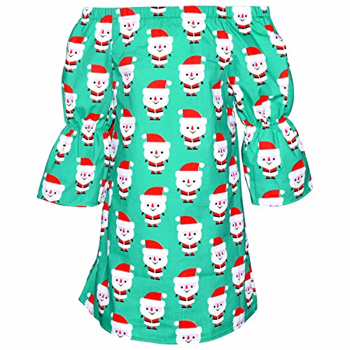 Unique Baby Girls Christmas Santa Dress With Bow (7/XXL, Green) by Unique Baby (Image #1)
