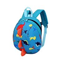 Cartoon Toddler Baby Harness Backpack, Yimoji Leash Safety Anti-lost Strap Walker Dinosaur School Bag Lunch Bag for Baby Girls and Boys