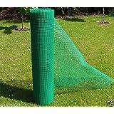 Grillage en plastique Largeur 1,2 m idéale pour treillis de jardin/Site de Construction des clôtures ou Volailles Run treillis Metre plastique Vert