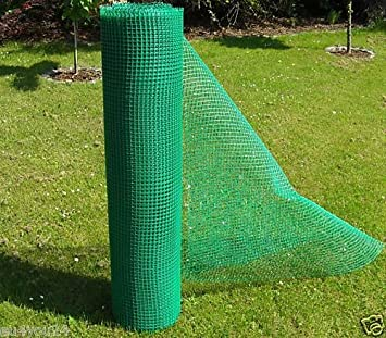 Clôture en maille plastique - Largeur 1,2 m Idéal pour le jardin ...