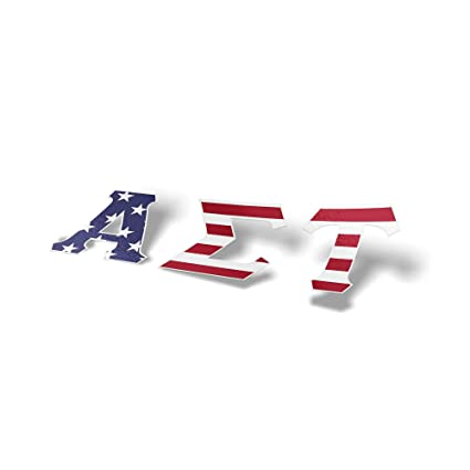 Amazon Alpha Sigma Tau Sorority Usa Letter Sticker Decal Greek