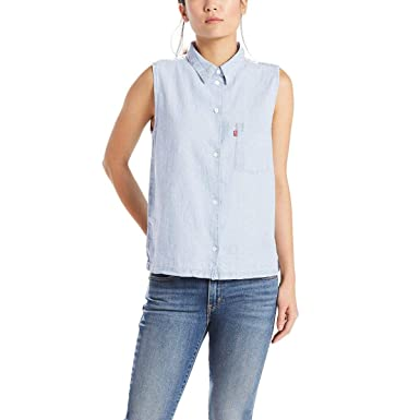 Camisa Levis Sidney Button Back Azul  Amazon.com.br  Amazon Moda c8733c2bd42