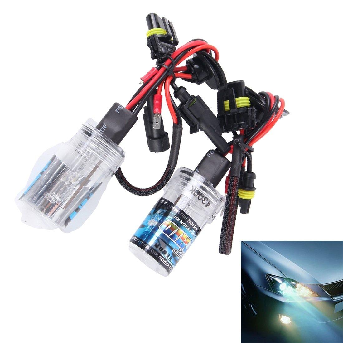 High quality lights, 2PCS DC12V 35W H7 HID Xenon Light Single Beam Super Vision Waterproof Head Lamp, Color Temperature: 4300K