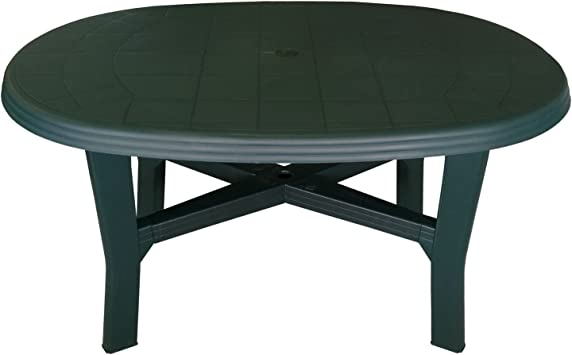 Multistore 2002 Table de jardin en plastique Ovale/robuste ...