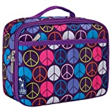 Wildkin Peace Signs Purple Lunch Box