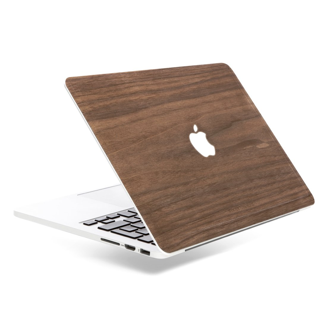 Woodcessories - Skin Compatible with MacBook 15 Pro Retina of Real Wood, EcoSkin (Walnut) by Woodcessories (Image #1)