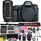Canon EOS 6D Mark II 26.2 MP Digital SLR Camera (Wi-Fi Enabled) ESSENTIAL Single Lens STARTER Kit with Camera Body, EF 70-300mm f/4-5.6 IS II USM Lens & Deluxe Camera Works Accessory Bundle