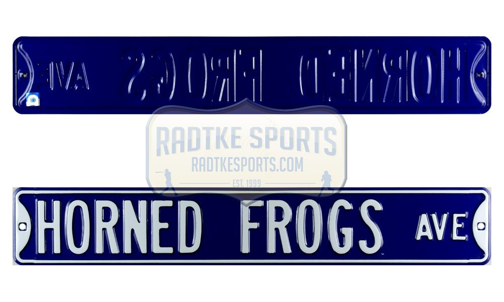 TCU Horned Frogs Avenue Officially Licensed Authentic Steel 36x6 Purple & White NCAA Street Sign Authentic Street Signs