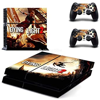 Playstation 4 Skin Set - Dying Light 2 HD Printing Vinyl Skin Cover Protective for PS4 Console and 2 PS4 Controller by Mr Wonderful Skin