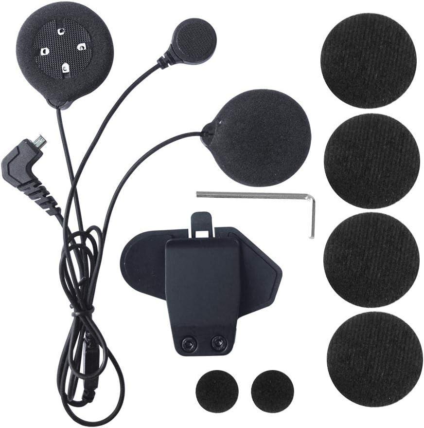 Micrófono de intercomunicador y auriculares + casco con clip, recambio de accesorios de interfono Freedconn T-MAX Bluetooth