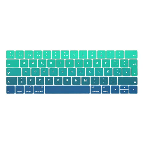 TwoL española Protector Cubierta del teclado / Keyboard Cover para MacBook Pro 13 15 2016 2017