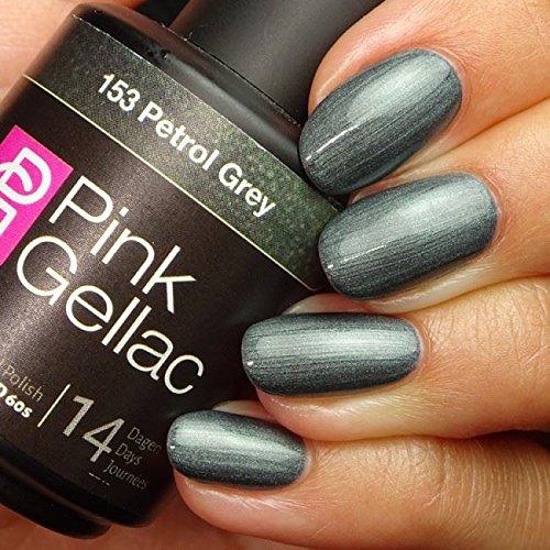Pink Gellac #153 Petrol Grey European Soak-Off UV / LED Gel Polish (15ml / 0.5 fl oz)