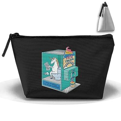 Unisex Stylish And Practical The Amazing Unicorn Made Ice Cream Trapezoidal Storage Bags Handbags