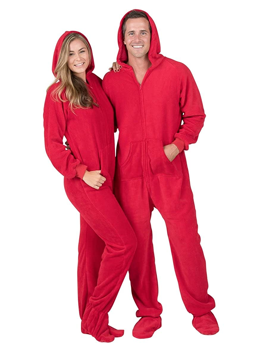 Amazon.com  Footed Pajamas - Heatwave Adult Hoodie Chenille Onesie  Clothing 8765fa714
