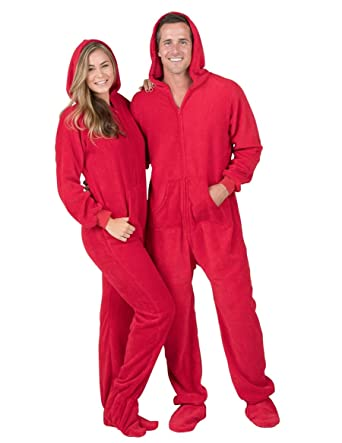 4de9f1b0d4 Amazon.com  Footed Pajamas - Heatwave Adult Hoodie Chenille Onesie ...