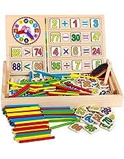 Multi function digital clock digital learning box color calculation game box
