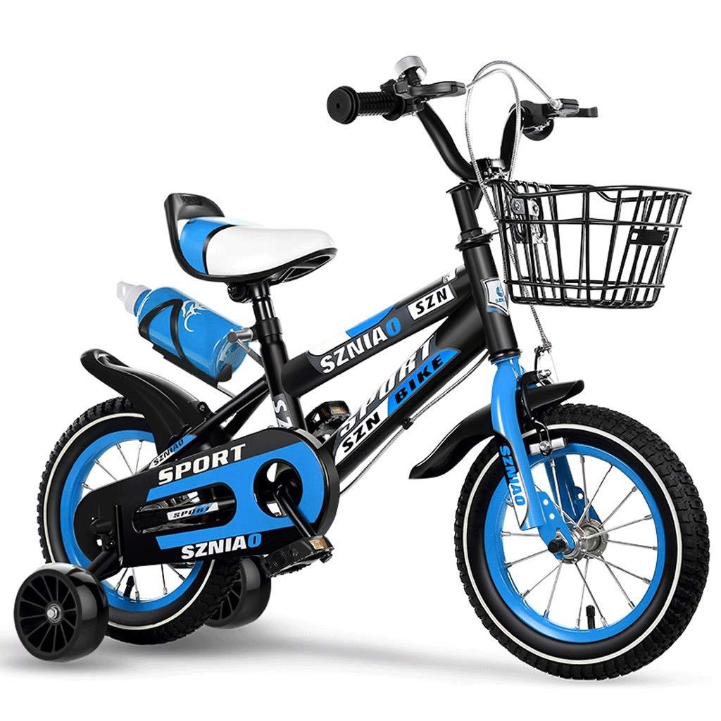 Venta barata azul LI HAO SHOP Bicicleta Bicicleta Bicicleta para niños, Bicicleta para bebés, Bicicleta de montaña para niños, Bicicleta para niños, Rueda de auxilio ampliada ampliada para Regalo de los niños con hervidor  1-12 in  gran venta