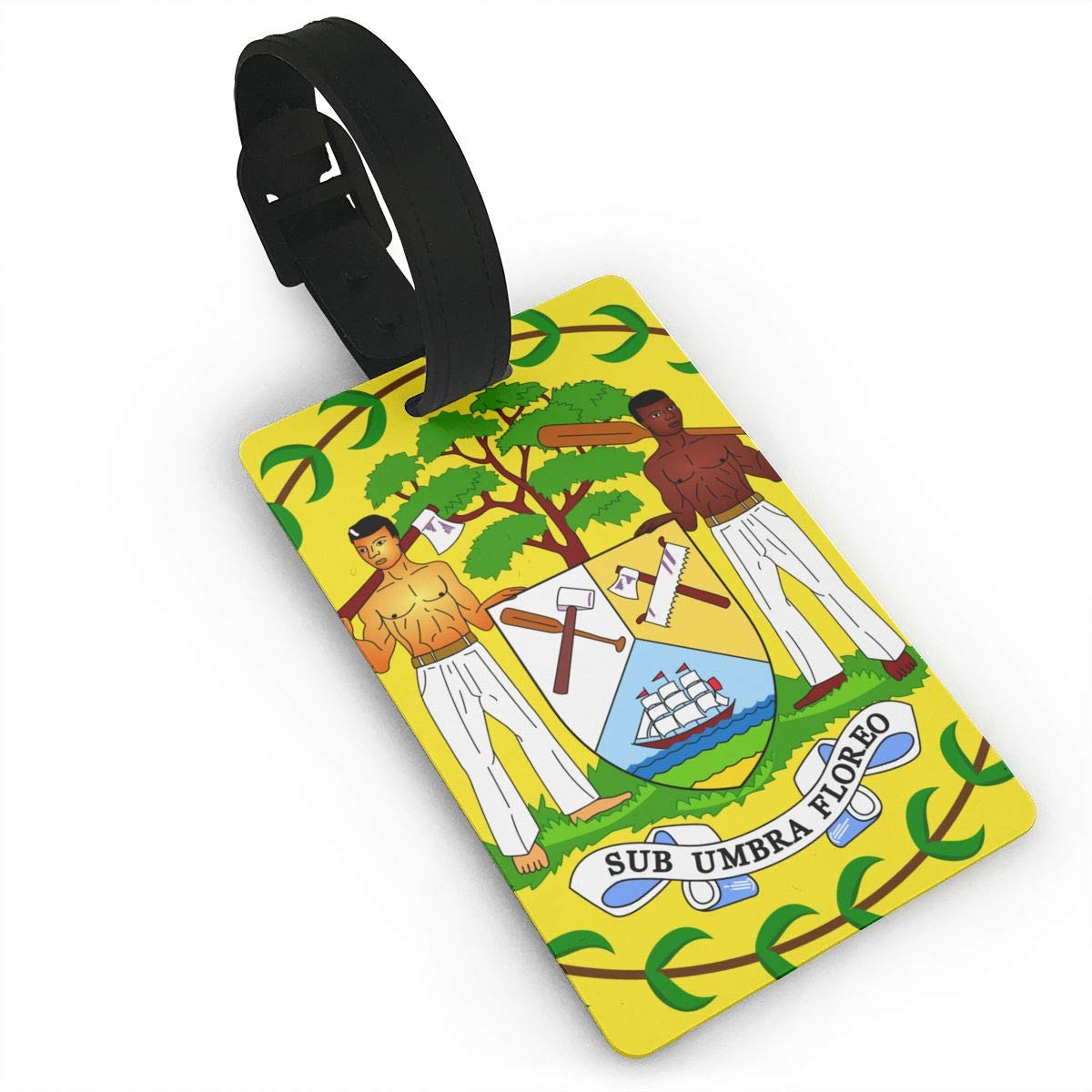 KODW12 Coat of Arms of Belize Luggage Tag Travel Bag Labels Suitcase Bag Tag Name Address Cards by KODW12 (Image #1)