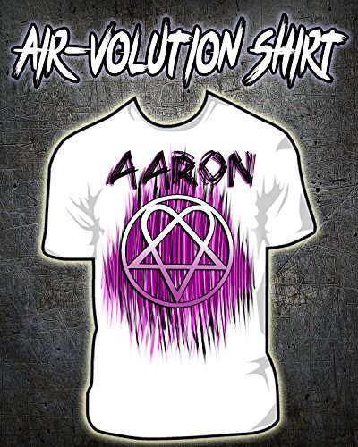Personalized Airbrushed Heartagram Shirt ()