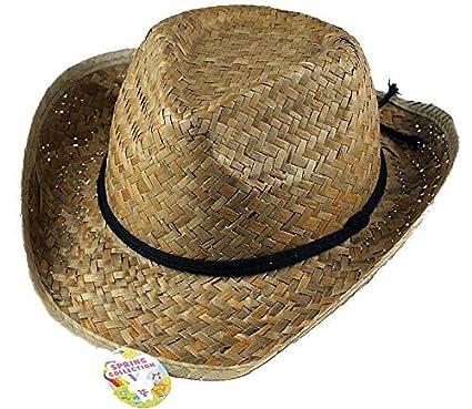 6c7a95385 Boys Easter Straw Cowboy Hat / Cowboy Bonnet (For Decorating)
