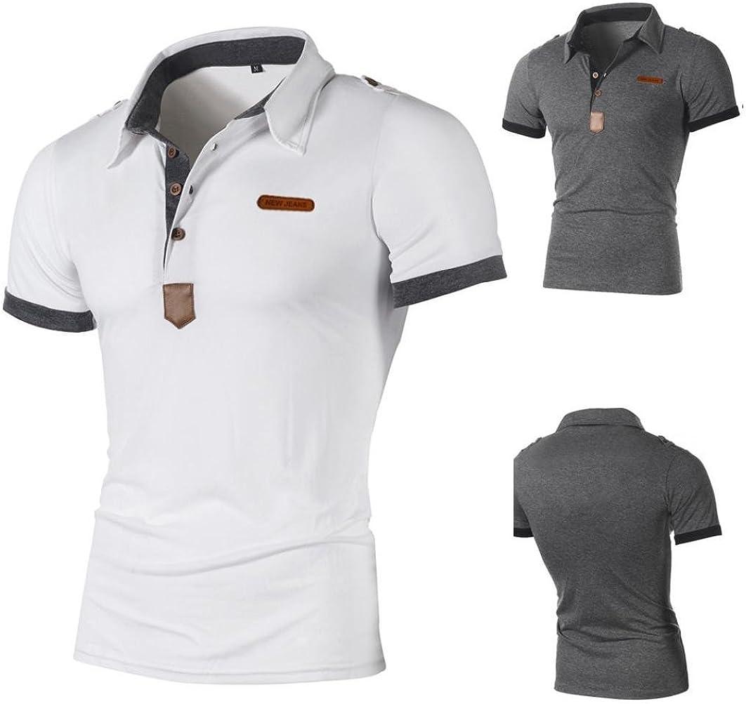 Polo Sport T Shirt Uni Homme M A 2xl Covermason Homme Polo Shirts Manche Courte Casual T Shirt Mode Mince Fit Fawn Imprimer Chemise Tee Tops Dv Videk Hr