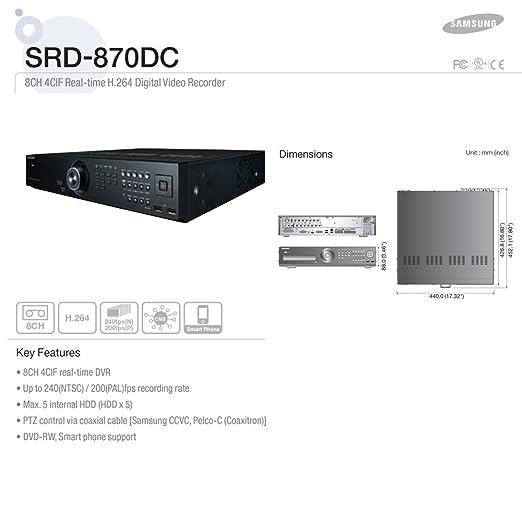Samsung SRD-870DC-3TB Negro videograbador digital: Amazon.es: Electrónica