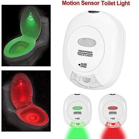 aotosolo automático LED activado baño luz, sensor de movimiento que funciona con pilas rojo y