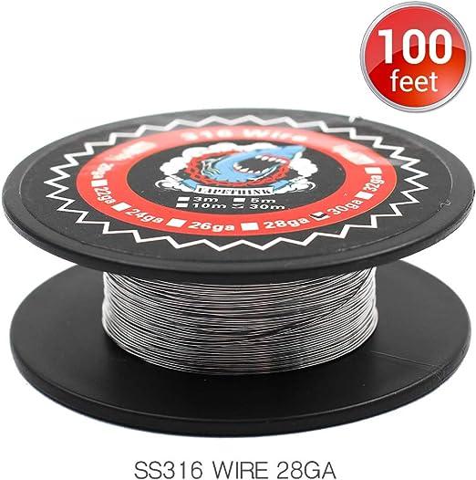30M Vapethink SS316 28GA Alambre de resistencia,Vape Coil Wire: Amazon.es: Salud y cuidado personal
