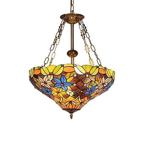 lámpara de estilo Tiffany, lámpara Colgante A Techo De ...