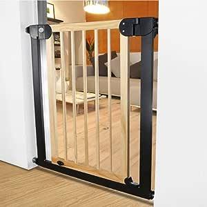 Ancho de la puerta de seguridad para niños 76-83cm Escaleras de madera maciza Valla protectora Puerta de seguridad para niños (Tamaño : Cylindrical installation): Amazon.es: Hogar
