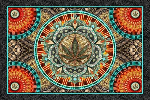Marijuana Leaf 3D Tapestry by Dan Morris, 26x40
